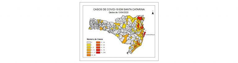 Mapeamento aponta que um em cada quatro municípios catarinenses tem casos de Covid-19