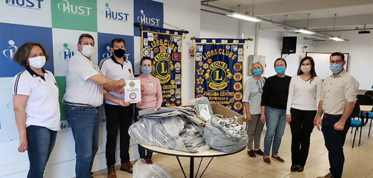 HUST recebe doações dos Lions Clubes de Joaçaba