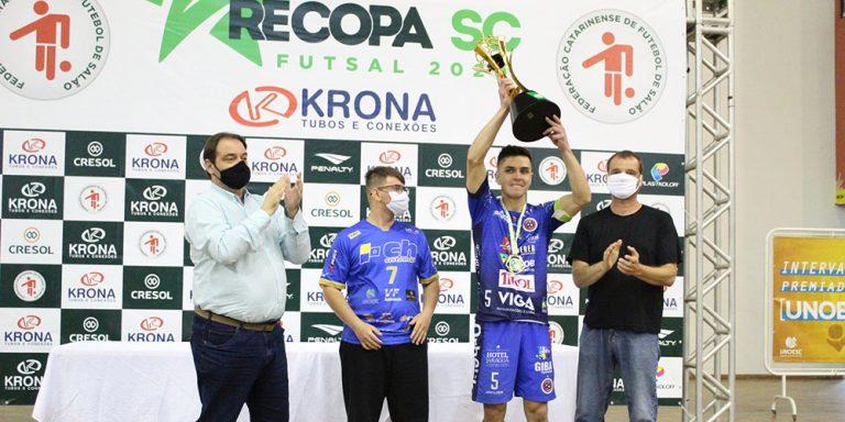 Joaçaba Futsal conquista o título de campeão da Recopa SC 2020