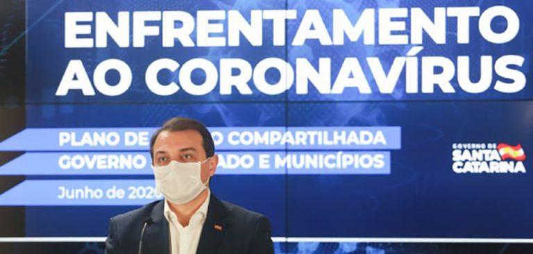 Governador de Santa Catarina testa positivo para novo coronavírus
