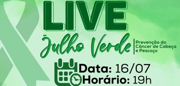HUST promove live sobre o Julho Verde, mês de prevenção do Câncer de cabeça e pescoço