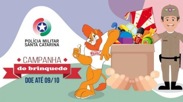 Polícia Militar de Santa Catarina realiza Campanha do Brinquedo