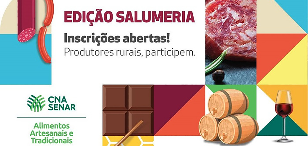 Sistema CNA/SENAR premiará produtores dos melhores salames artesanais do Brasil