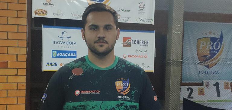 Joaçabense Daniel Godoi é convocado para seletiva da Seleção Brasileira de Tênis de Mesa