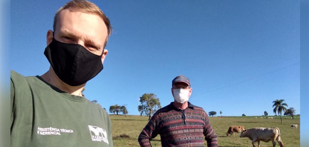 O uso de máscara no campo é tão importante como na cidade