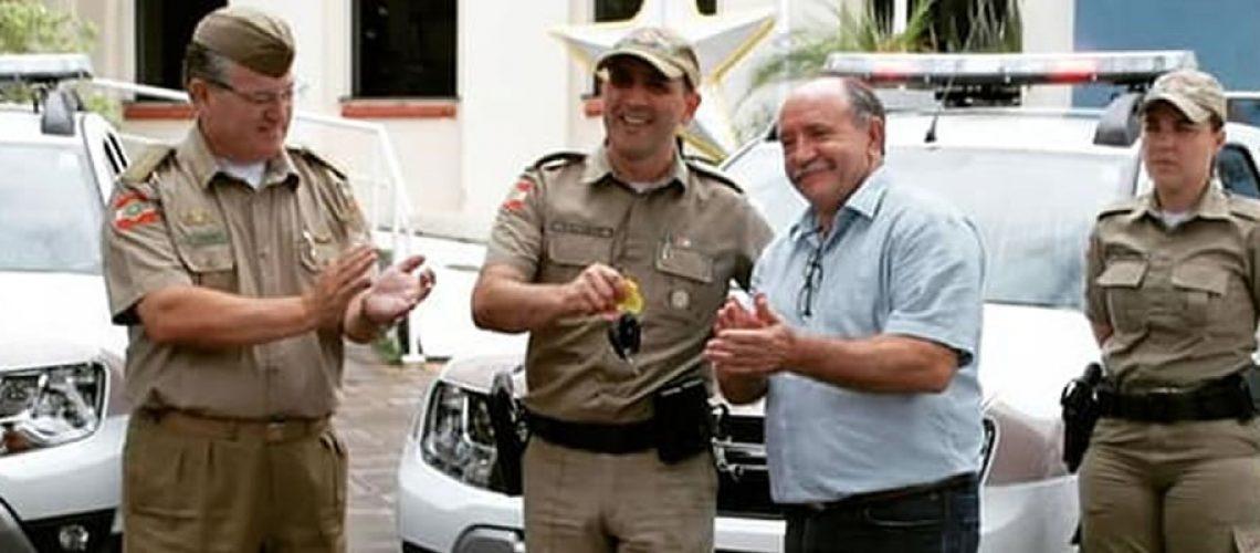 As viaturas foram adquiridas através do convênio firmado entre a prefeitura de Joaçaba e o Comando da Polícia Militar de Santa Catarina/Foto: Assessoria de Imprensa