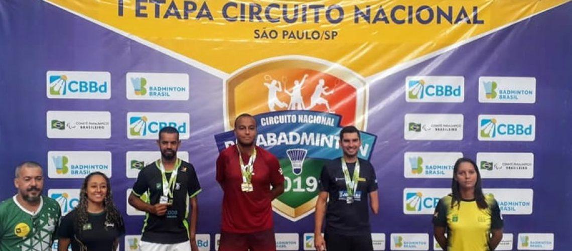 Ricardo Cavalli conquistou duas medalhas na classe SU5 ficando em terceiro lugar no individual e vice campeão na dupla masculina/Foto: Assessoria de Imprensa