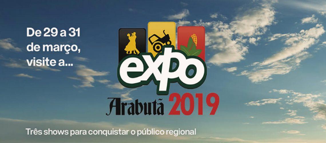Os shows nacionais programados para a Expo Arabutã são: Os Serranos