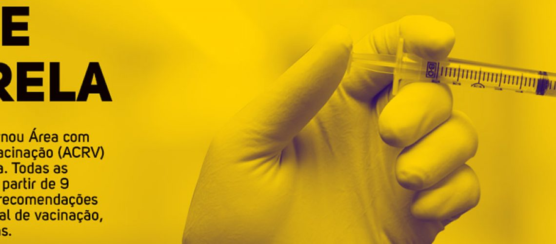 Os cidadãos que nunca receberam a vacina contra a febre amarela devem procurar a Unidade de Saúde mais próxima