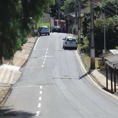 Rua Edwino Weiss localizada no Bairro Flor da Serra foi uma das ruas pavimentadas/Foto: Assessoria de Imprensa