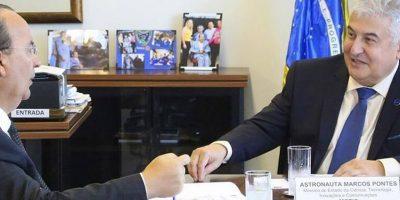 Senador Jorginho Mello em audiência com o ministro da Ciência e Tecnologia