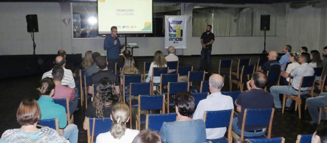 A diretoria da Câmara dos Dirigentes Lojistas de Joaçaba promoveu um importante encontro no Clube 10 de Maio/Foto: Assessoria de Imprensa
