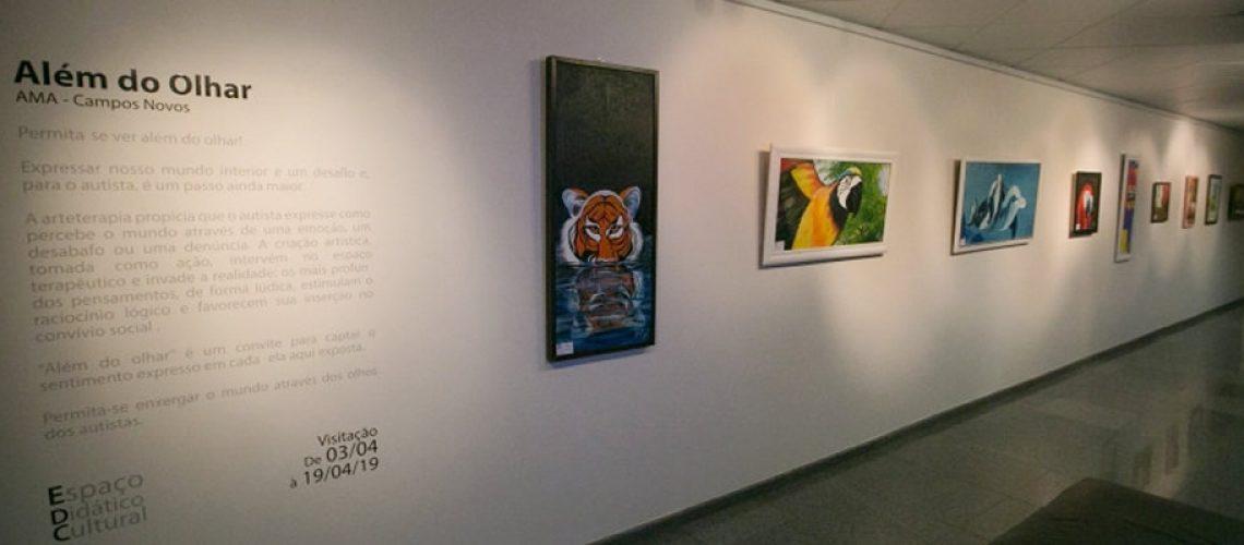 A exposição fica aberta para visitação até o dia 19 de abril no Espaço Didático Cultural