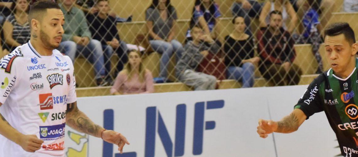 Joaçaba Futsal empatou com o Marreco no jogo de estreia/Foto Mayelle Hall