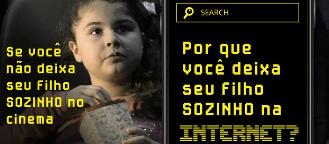 Acadêmicos realizam campanha para alertar dos perigos na internet que afetam crianças/Foto: Assessoria de Imprensa