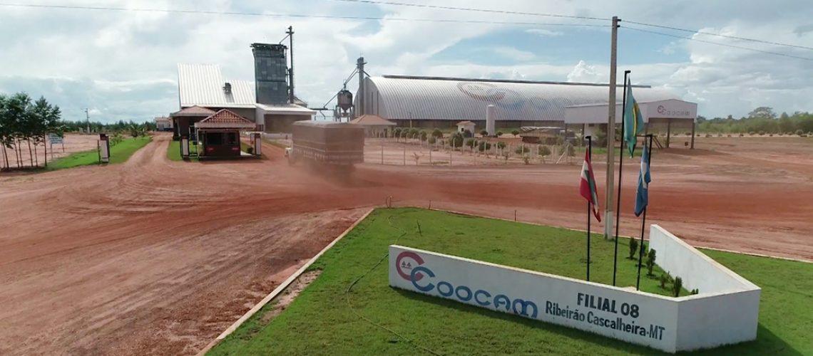 A Unidade tem capacidade para armazenamento de 60 mil toneladas de grãos/Foto: Assessoria