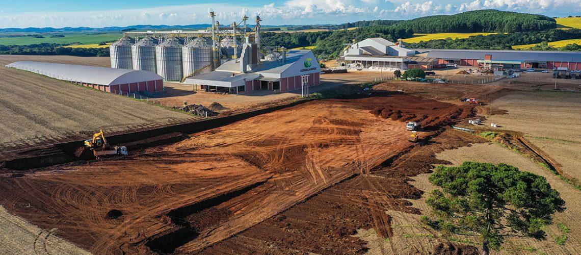 A nova estrutura atenderá a área de sementes e também o setor de insumos