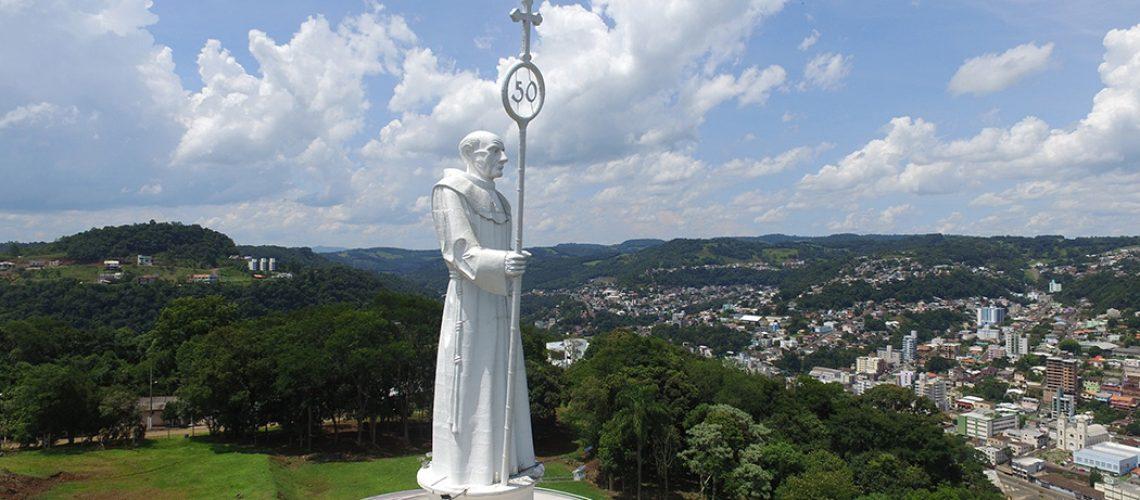 Monumento Frei Bruno, ponto turístico de Joaçaba/Foto: Bom Dia SC