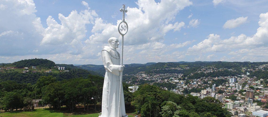 Monumento de Frei Bruno/Foto: Bom Dia SC