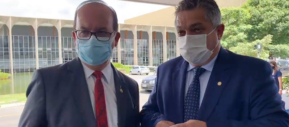 Senador Jorginho Mello e o prefeito João Rodrigues tiveram audiência no Ministério da Saúde