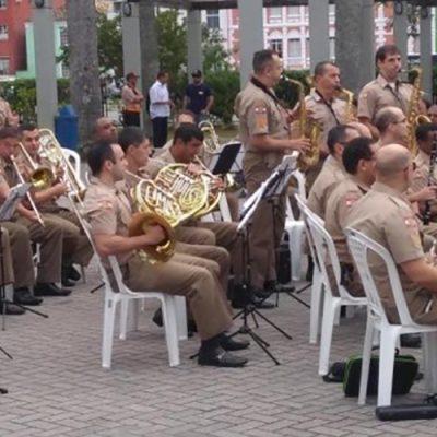 A Banda de Música da Polícia Militar de Santa Catarina (PMSC) completa 127 anos nessa segunda-feira, 21/Foto: PMSC