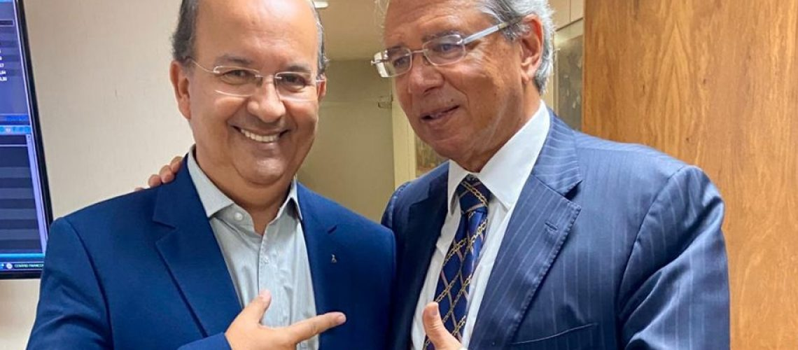 O Senador Jorginho Mello se reuniu
