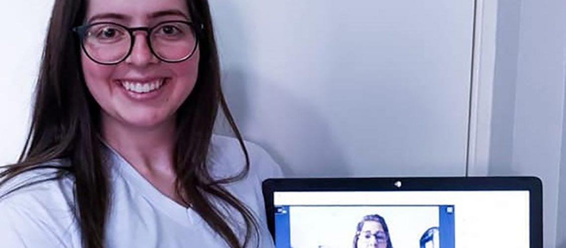 Maria Andrea Mecabô Moro, estudante do curso de Administração de Capinzal