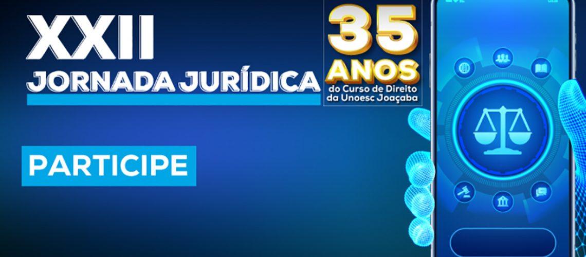 Jornada Jurídica acontece de 21 a 26 de setembro