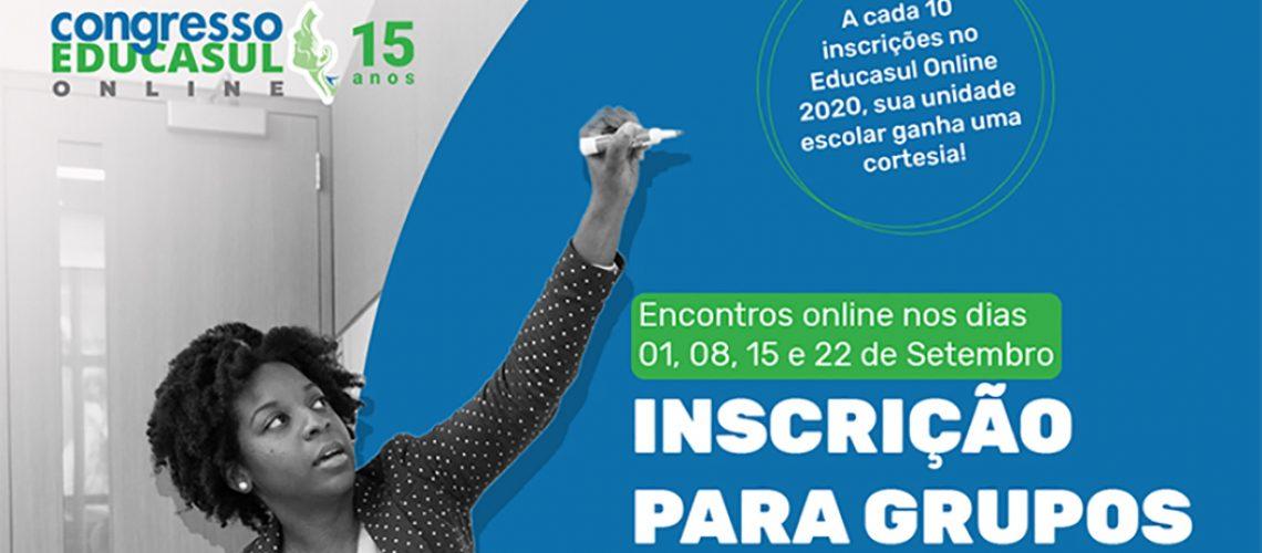 Para inscrever o seu trabalho, será necessária antes, sua inscrição na programação oficial do Educasul Online 2020