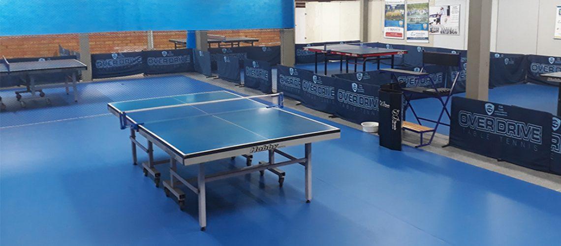 A Associação Pró Tênis de Mesa de Joaçaba adquiriu 162 m2 de piso esportivo