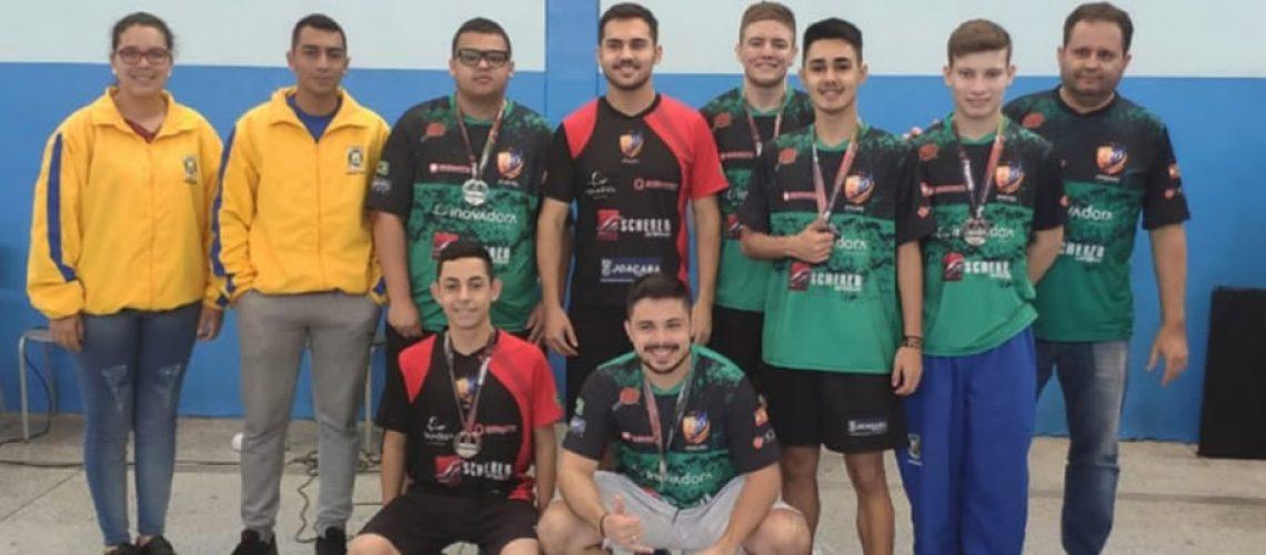 Joaçaba vice-campeão geral no tênis de mesa masculino nos Joguinhos 2019/Foto: Assessoria de Imprensa