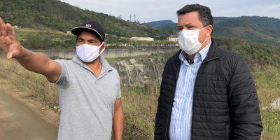Deputado Ivan Naatz visitou barragem e conversou com lideranças indígenas do local/Foto: Assessoria