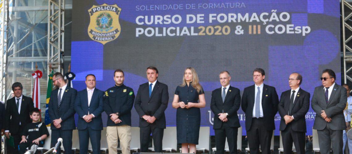 cerimônia de formatura dos agentes na Academia Nacional da Polícia Rodoviária Federal/Foto: Julio Cavalheiro/Secom