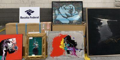 Oito trabalhos de artes visuais de representativos artistas da arte brasileira, foi apreendido pela Alfândega no Porto de Itajaí/SC
