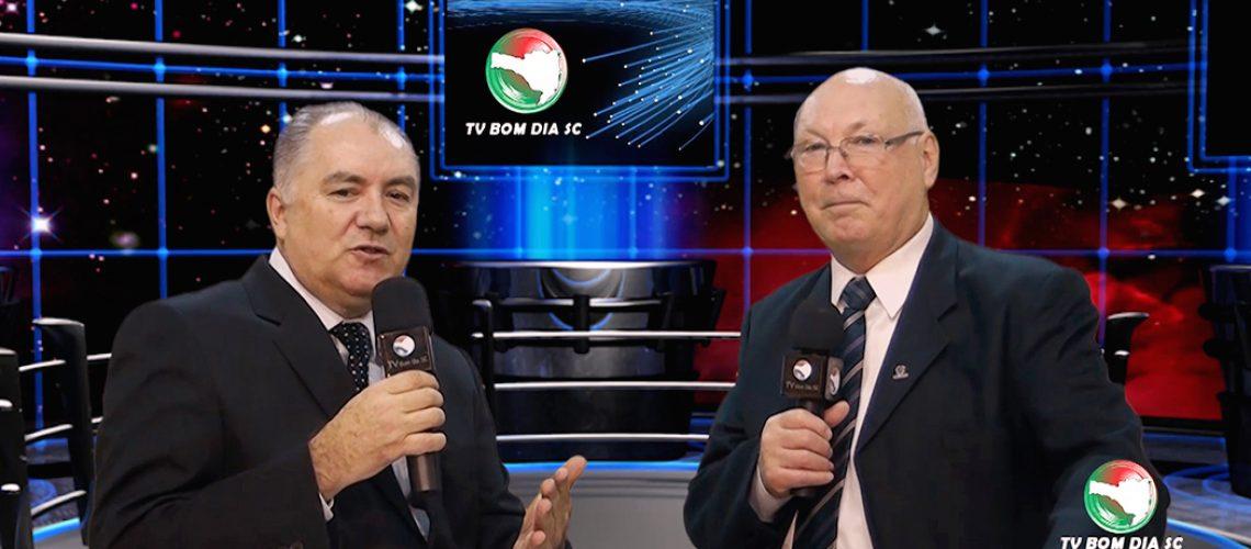 Jornalista Evandro Novak e Professor Aristides Cimadon