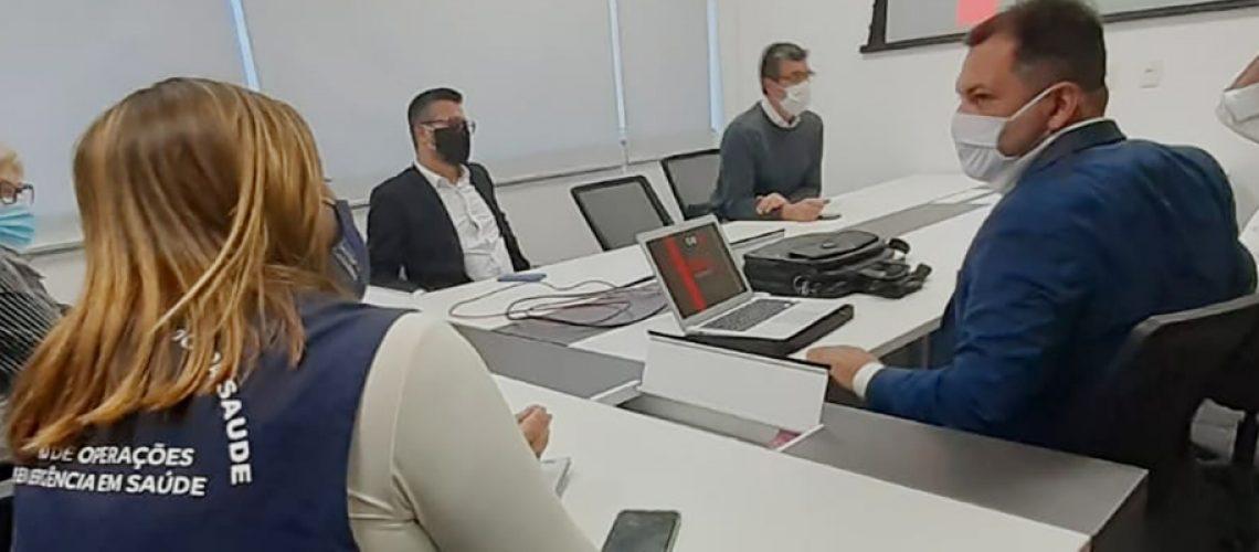 Na reunião foi apresentado o Guia de Sugestões Protetivas para a volta do Campeonato Catarinense de Futebol/Foto: Divulgação Governo de SC