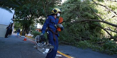 O ciclone extratropical que atinge o Estado desde a tarde de terça-feira, 30, provocou ocorrências em ao menos 101 municípios/Foto: Secom