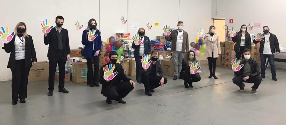 As ações não terminam neste mês de julho, a Cresol já iniciou campanhas para tornar o Dia das Crianças e o Natal mais feliz para muitas famílias/Foto: Assessoria