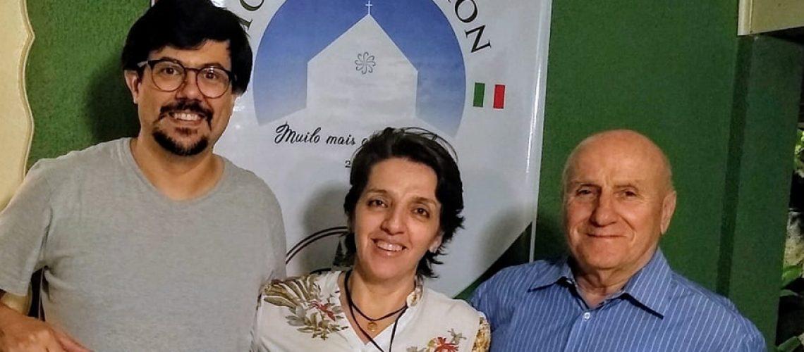 Yuri Piccoli Hentz recebeu o vice presidente em sua residência/Foto: Assessoria de Imprensa