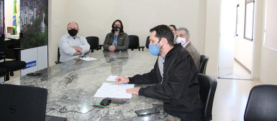 Os novos membros do Conselho Municipal dos Direitos da Criança e do Adolescente  foram empossados por vídeo conferência/Foto: Assessoria