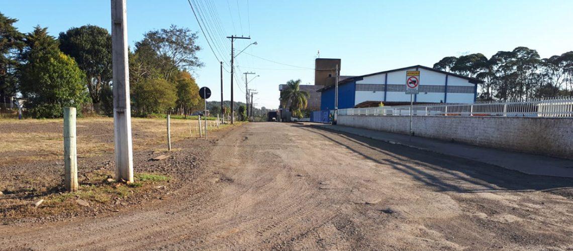 Rua Armindo Raimundo Heberle, localizada no Bairro Vila Remor,  pavimentada/Foto: Assessoria