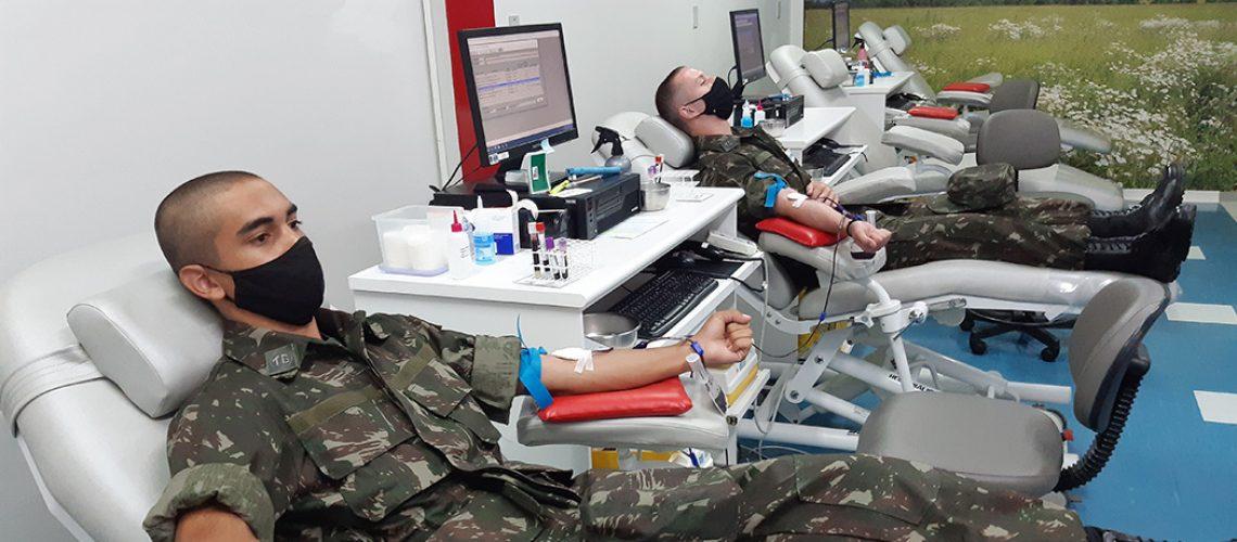 A atividade foi realizada com a finalidade de apoiar o reabastecimento do estoque de sangue