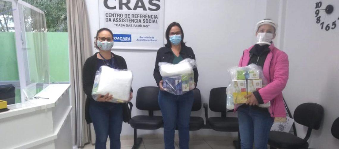 Desde o início da pandemia, a Secretaria de Assistência Social forneceu itens de EPI's aos trabalhadores
