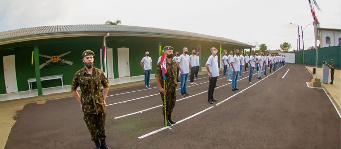 Foram matriculados 50 atiradores que receberão instruções cívicas e militares