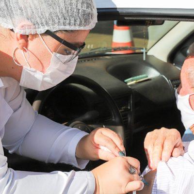 Drive – Thru's de Vacinação da segunda dose para vacinados com Coronavac acontece nesta semana/Foto: Internet