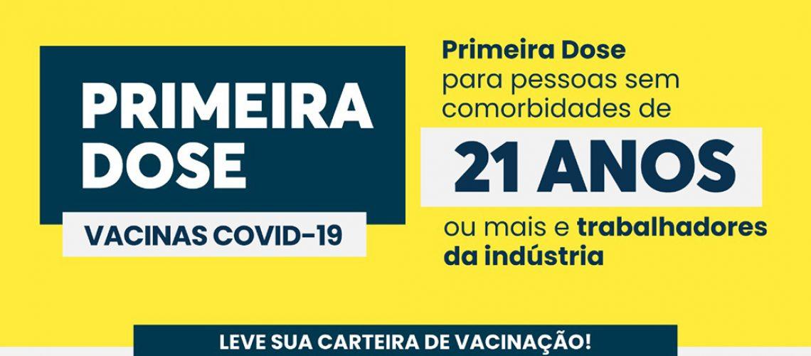 A vacinação acontece das 14h às 20h
