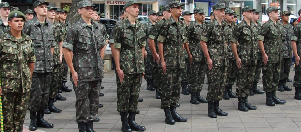 O Tiro de Guerra de Joaçaba realizou nesta segunda-feira (2) a solenidade de matrícula da Turma 2020/Foto: Assessoria de Imprensa