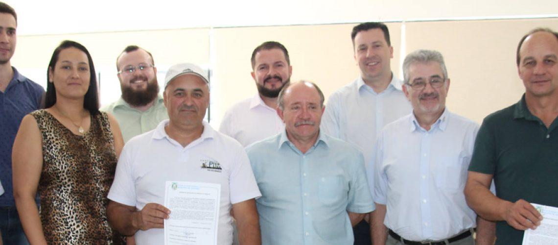 A Ordem de Serviço para execução de passeios públicos em concreto armado nas vias centrais do Município de Joaçaba foi assinada hoje/Foto: Divulgação Internet