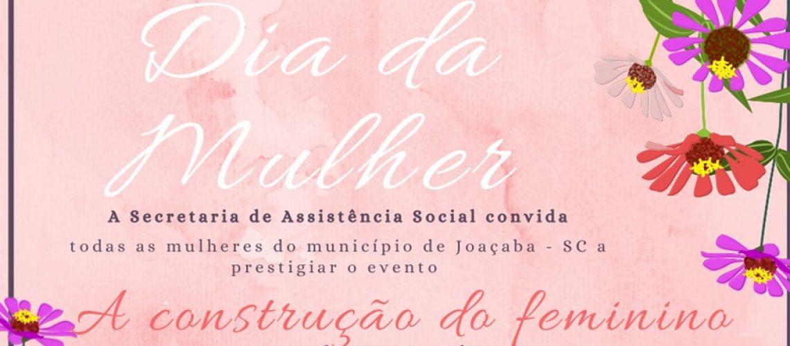 O evento será direcionado para as mulheres residentes no Município de Joaçaba