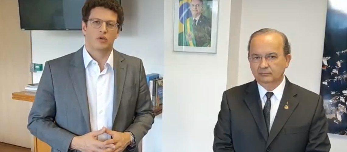 Ministro do Meio Ambiente, Ricardo Salles, recebeu em seu gabinete o senador Jorginho Mello/Foto: Assessoria de Imprensa
